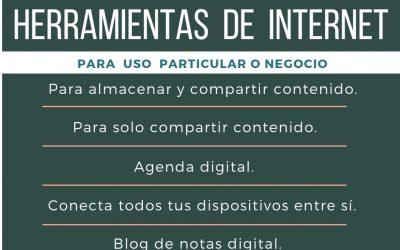 Herramientas de Internet para uso particular o negocio