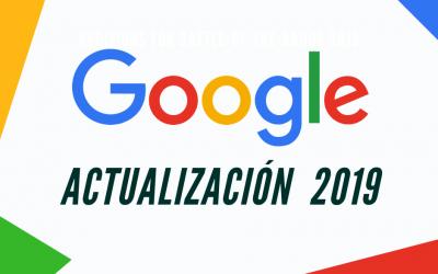 Actualización de Google 2019