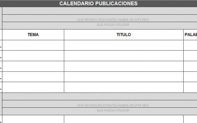 Calendario de publicaciones y plantillas